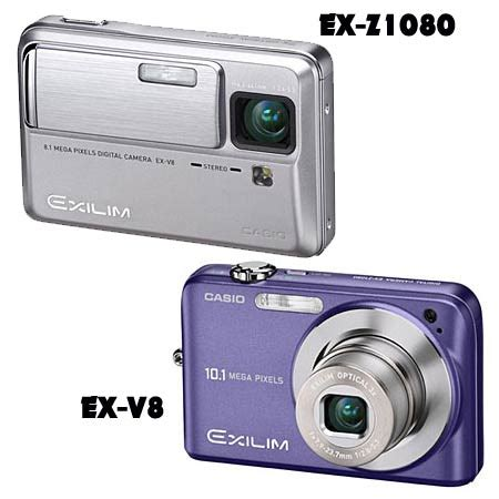 New Casio Exilim Cosies Up To Technology by Casio Introduces Ex V8 And Ex Z1080 Cameras From The