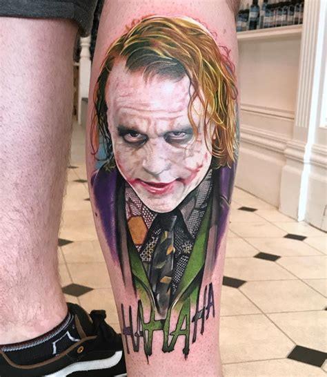 joker tattoo shop portsmouth color portrait tattoos by david corden