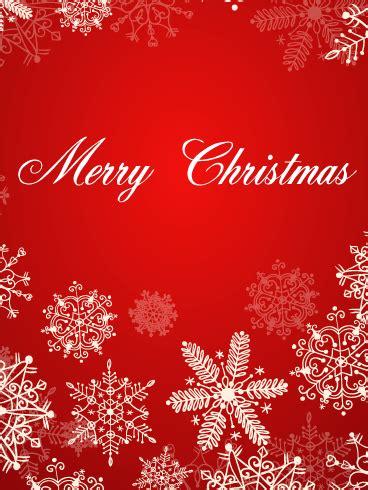 christmas white snowflakes card birthday greeting cards  davia