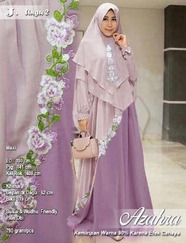 Gamis Remaja Warna Ungu gamis syari dua warna terbaru azahra ungu2 model baju gamis terbaru