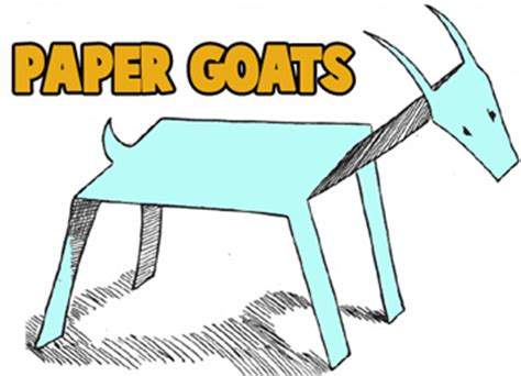 How To Make A Paper Goat - goat crafts for goats with easy to make arts