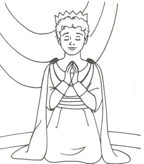 Free Coloring Pages Of Joash Boy King King Joash Coloring Page