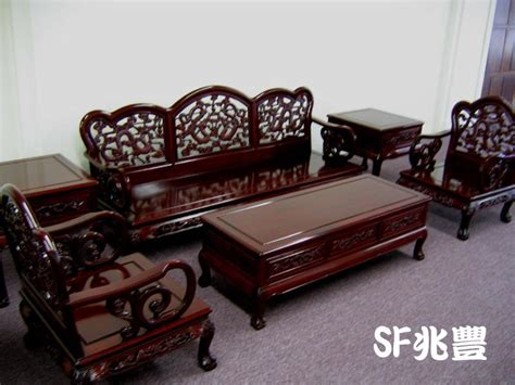 Carving Sofa Set Solid Rosewood Furniture Living Room Set French Style