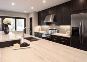 contemporary kitchen design with espresso stained kitchen