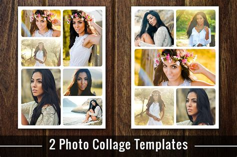 Photo Collage Template Photoshop Psd Flyer Templates Creative Market Photo Collage Template Photoshop