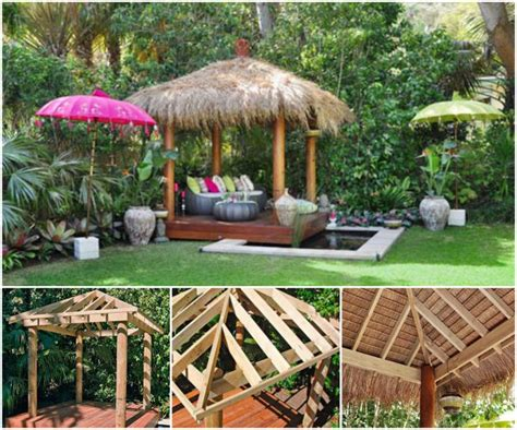hut diy diy bali hut garden ideas
