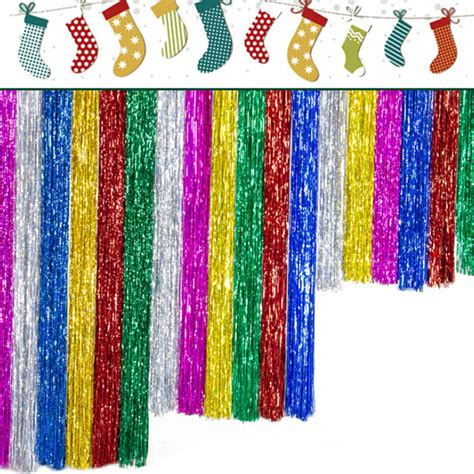 glitter curtains for parties 2pcs shimmer foil glitter tinsel metallic backdrop curtain