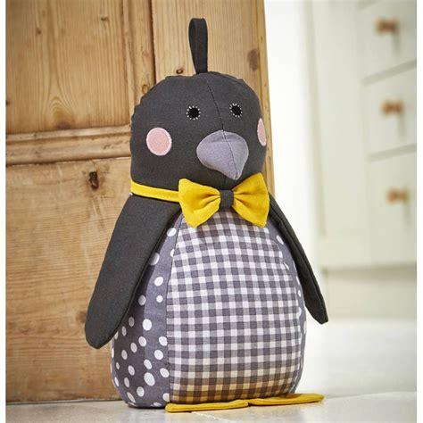penguin door stop peso de porta animales de tela