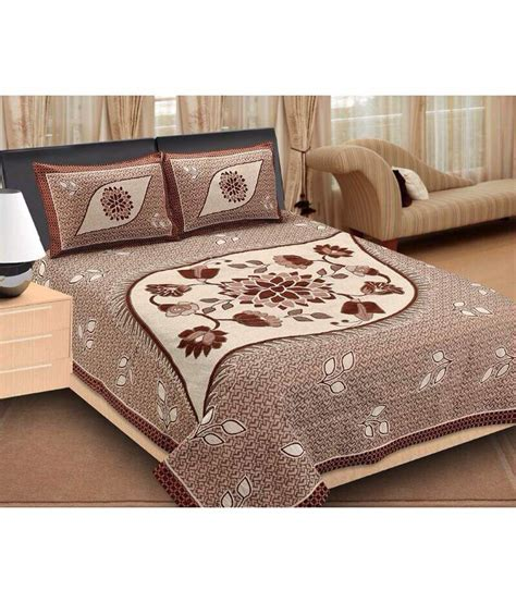 bed and pillow covers dream home beige double bed cover with 2 pillow covers