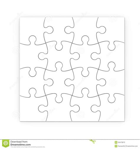 printable heart puzzle template white jigsaw puzzle with clipping path stock photo image