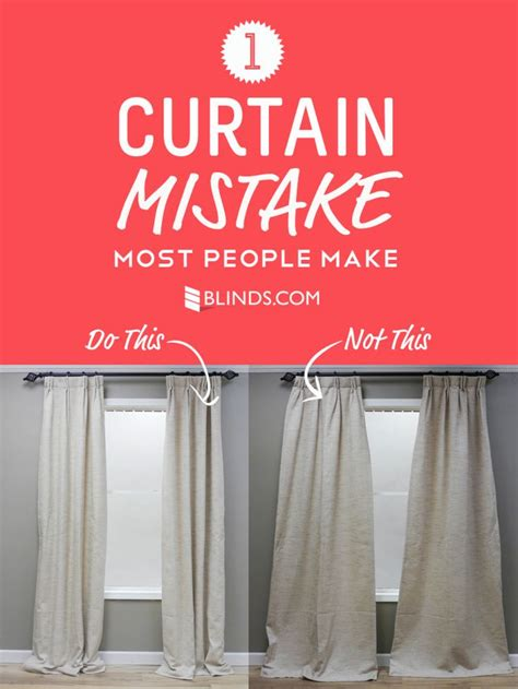 properly hanging curtains one curtain mistake most people make window house and