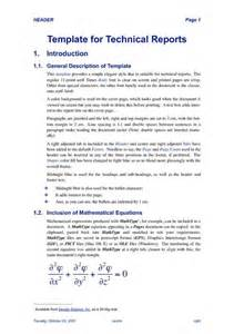 Samples Of Technical Reports Technical Report Template Best Business Template
