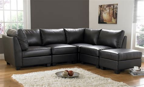 Black Sectional Leather Sofa by Black Leather Sofas Plushemisphere