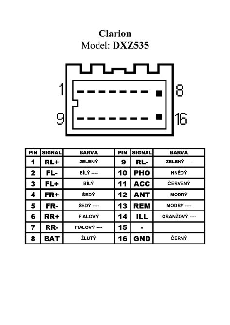 clarion nx409 wiring harness diagram 36 wiring diagram
