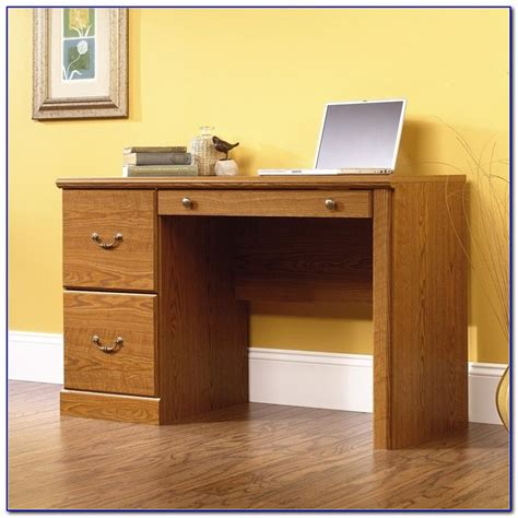 sauder orchard computer desk with hutch and file