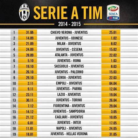 Calendario Serie A Juventus Calendario Juventus 2014 2015 Si Parte Da Chievo Juve
