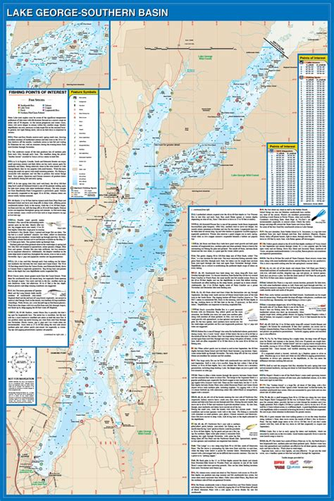 map of lake george ny george fishing map lake new york
