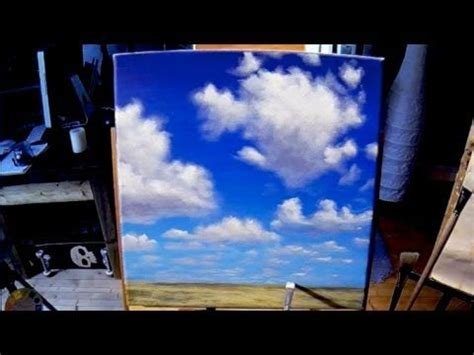 acrylic paint time painting simple clouds acrylic painting lesson in real