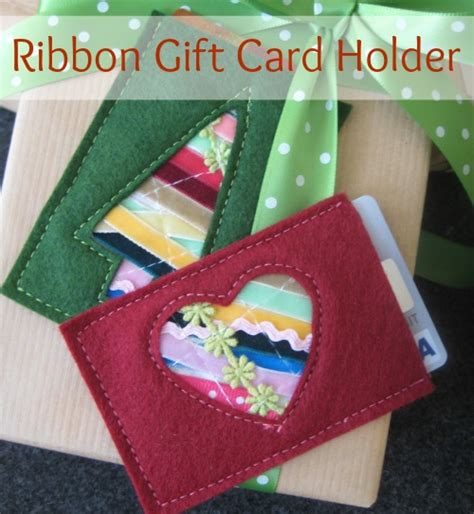 Ribbons Gift Card - ribbon gift card holder turn trim scraps into a gift card holder