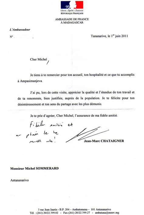 Modèle De Lettre à Un Ambassadeur Association School Madagascar 187 Les Nouvelles