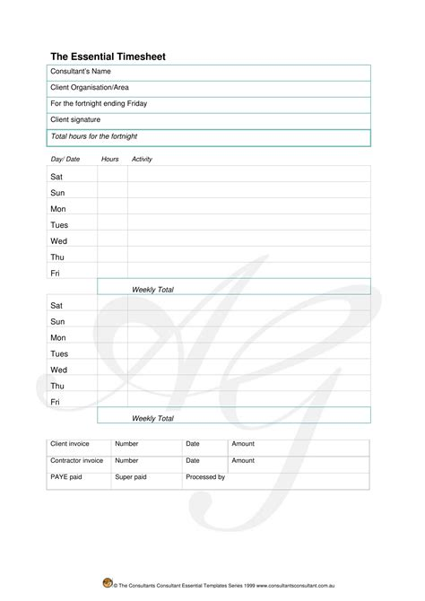 Download Consultant Timesheet Template Excel Pdf Rtf Word Freedownloads Net Consulting Timesheet Invoice Template