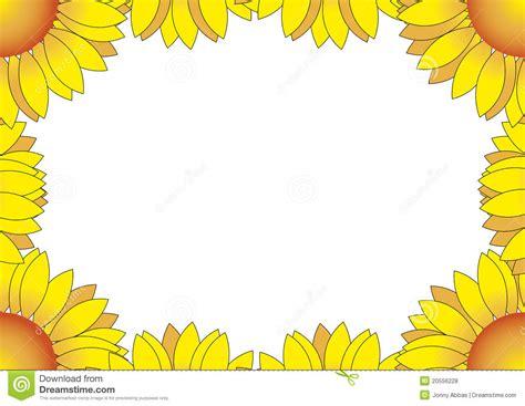 printable clip art 4 best images of printable sunflower border clip art