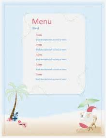 Word Templates Menu by Menu Template Microsoft Word Templates