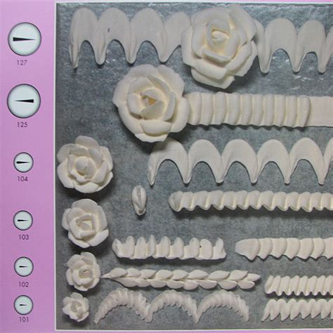 buttercream piping 101 decorating tips designs ateco petal small piping tip 101