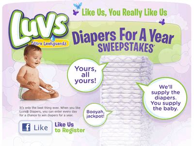 Diapers For A Year Sweepstakes - diapers for a year daily sweepstakes sweeps maniac