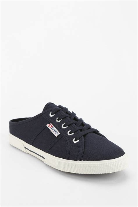 superga shoes for superga mule sneaker in blue lyst