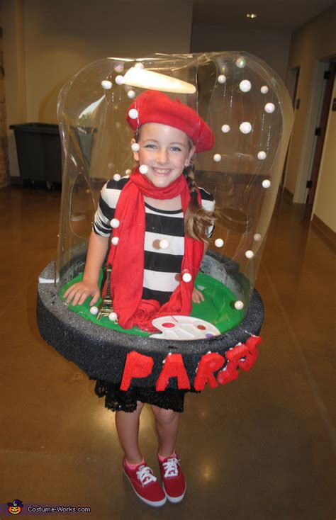 homemade paris snow globe costume