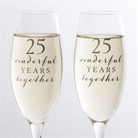 Happy 25th Anniversary Glasses   The Gift Experience