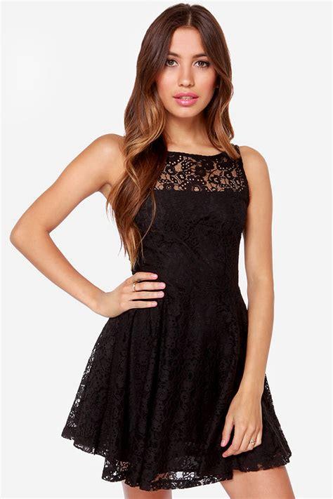 Black Lace Dress 17779 bb dakota cyrus black dress lace dress skater dress 83 00