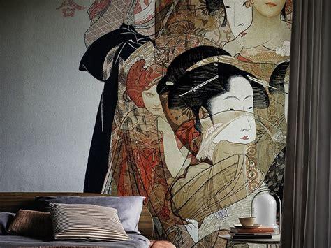 design art carta carta da parati nouveau geisha collezione contemporary