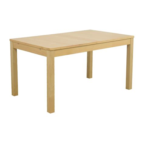 ikea pull out table 55 ikea ikea bjursta beech veneer table with