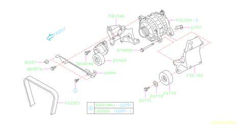 subaru legacy bolt pulley idler alternator system engine cooling aa  autobarn