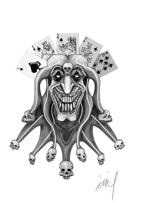 joker tattoo flash joker tattoo design by langkjaer on deviantart