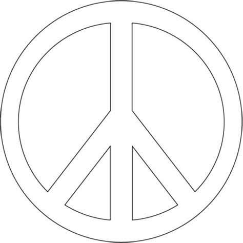 printable peace signs clipart best