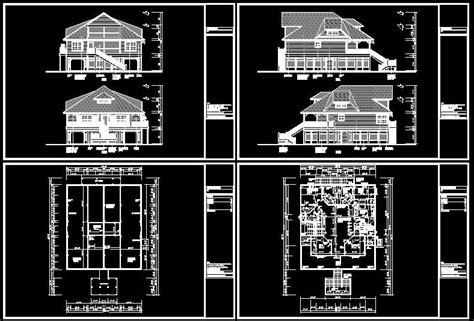 Cad Building Template Us House Plans House Type 27 Free Building Plans In Autocad Format