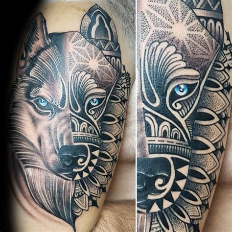 80 siberian husky tattoo designs for men dog ink ideas