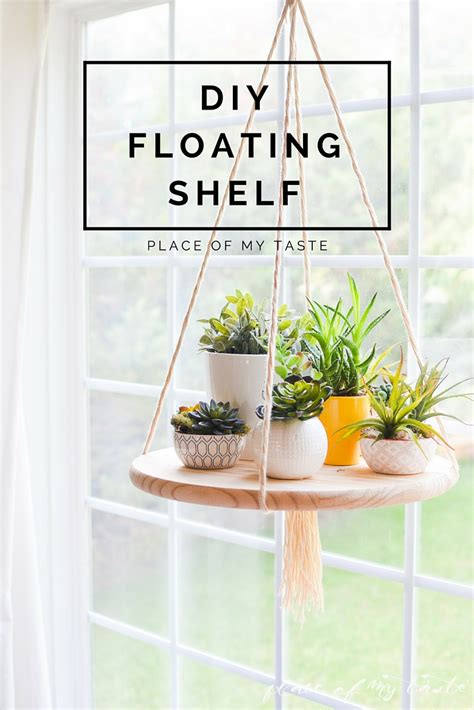 diy home interiors diy floating shelf to display your plants or other decor items