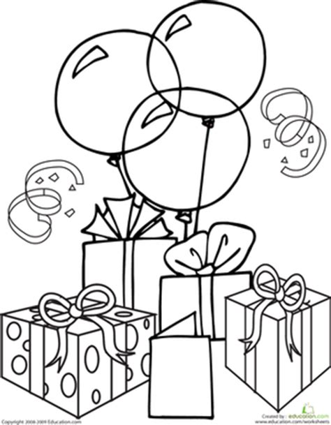 birthday gift coloring page birthday coloring page party time crayons and celebrations