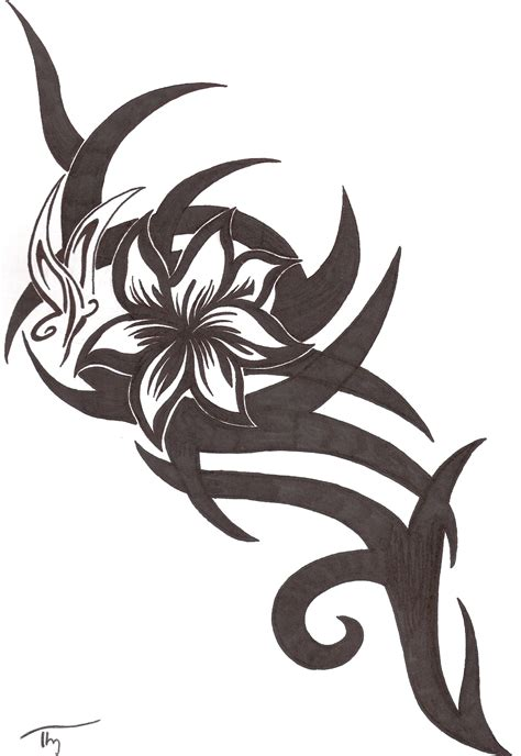 tattoo tribal flower cliparts co