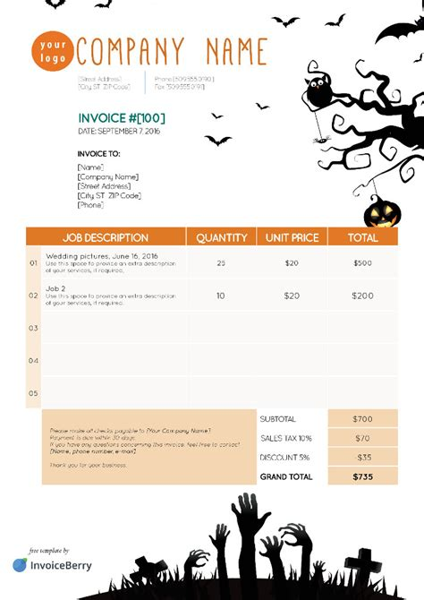 Free Indesign Invoice Templates Invoiceberry Indesign Invoice Template