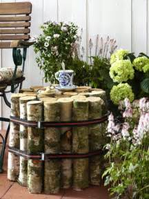 ideas front: summer decorating ideas front porch birch trunks side table diy