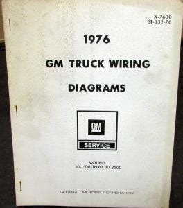 1976 gm dealer electrical wiring diagram service manual