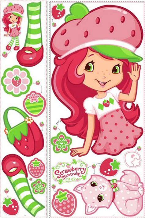 strawberry shortcake wall stickers strawberry shortcake roommates wall decal