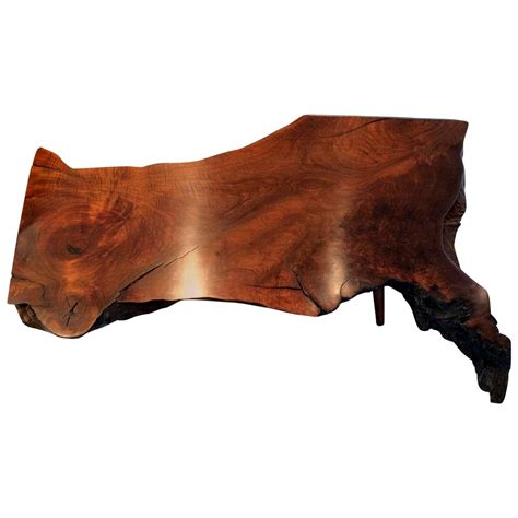 walnut slab coffee table early walnut slab coffee table by george nakashima for