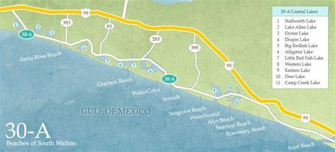 30a map south walton coastal dune lakes 30a destin property expert