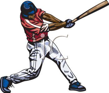 baseball player swinging bat clip art black baseball player clipart 47